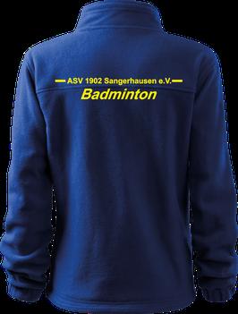 Fleecejacke Damen, Badminton, royal blau