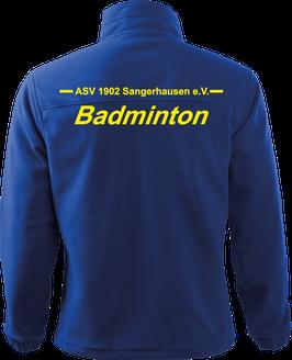 Fleecejacke Herren, Badminton, royal blau