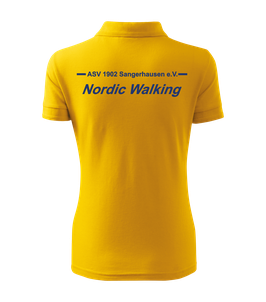 Pique Poloshirt Damen, Nordic Walking, gelb