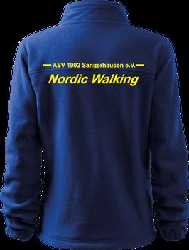Damen Fleecejacke, Nordic Walking, royal blau