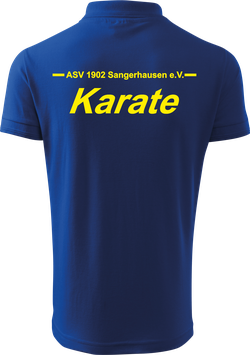 Pique Poloshirt Kids, Karate, royal blau