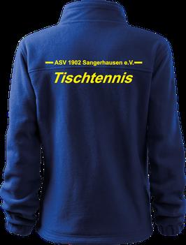 Fleecejacke, Tischtennis, royal blau
