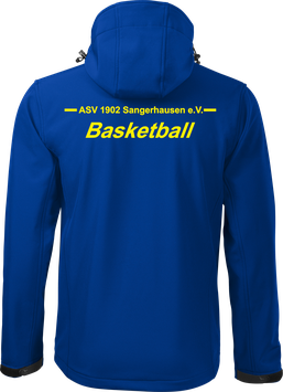 Softshelljacke m. Kapuze, Basketball, royal blau