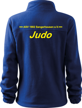 Fleecejacke, Judo, royal blau