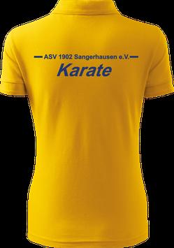 Pique Poloshirt Damen, Karate, gelb