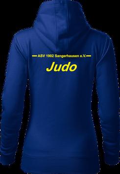 Hoodie Damen, Judo, royal blau