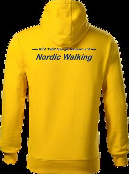 Hoodie Herren, Nordic Walking, gelb