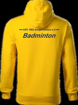 Hoodie Herren, Badminton, gelb
