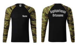 "Langarm-Shirt Camo grün ""Angelsport"""