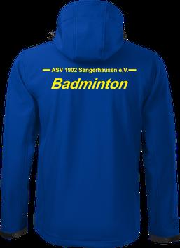 Softshelljacke m. Kapuze, Badminton, royal blau