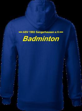 Hoodie Herren, Badminton, royal blau