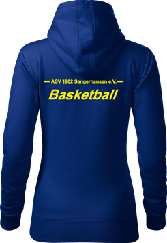 Hoodie Damen, Basketball, royal blau