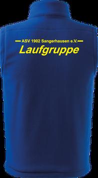 Bodywarmer unisex, Laufgruppe, royal blau