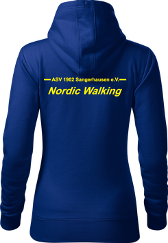 Hoodie Damen, Nordic Walking, royal blau