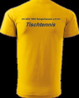 T-Shirt Heavy, Tischtennis, gelb