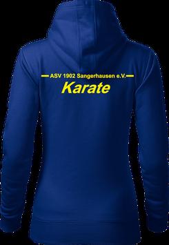 Hoodie Damen, Karate, royal blau