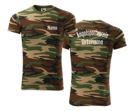 "T-Shirt Camo grün ""Angelsport"""