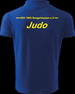Pique Poloshirt Herren, Judo, royal blau