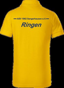 Pique Poloshirt Kids, Ringen, gelb