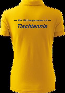 Pique Poloshirt Damen, Tischtennis, gelb