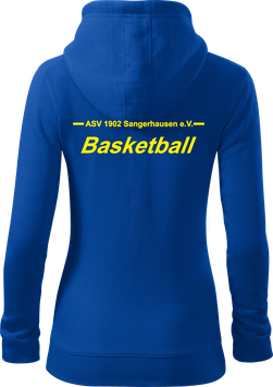 Damen Sweatjacke m. Kapuze, Basketball, royal blau