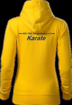 Hoodie Damen, Karate, gelb