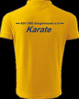 Pique Poloshirt Herren, Karate, gelb