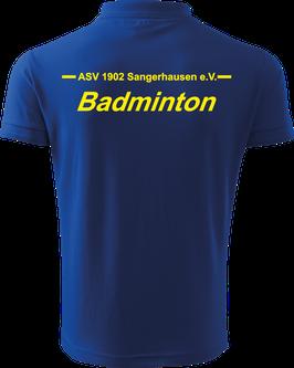 Pique Poloshirt Herren, Badminton, royal blau