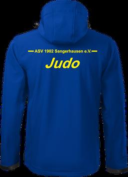 Softshelljacke m. Kapuze, Judo, royal blau