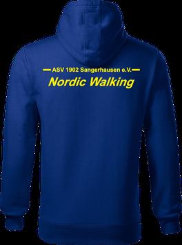 Hoodie Herren, Nordic Walking, royal blau