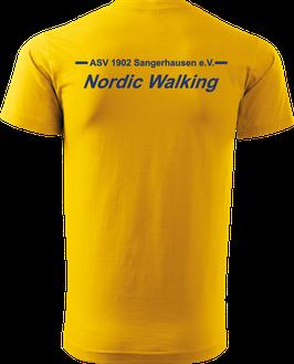 T-Shirt Heavy, Nordic Walking, gelb