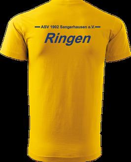 T-Shirt Heavy, Ringen, gelb