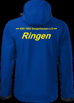 Softshelljacke m. Kapuze, Ringen, royal blau
