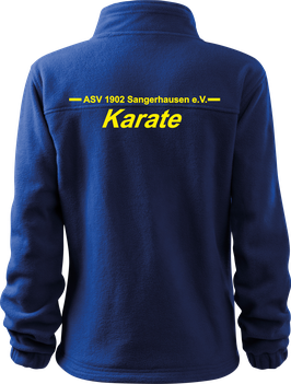 Fleecejacke, Karate, royal blau