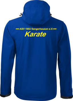 Softshelljacke m. Kapuze, Karate, royal blau