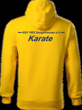 Hoodie Herren, Karate, gelb