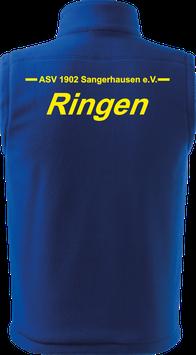 Bodywarmer unisex, Ringen, royal blau