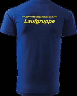 T-Shirt Heavy, Laufgruppe, royal blau