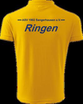 Pique Poloshirt Herren, Ringen, gelb