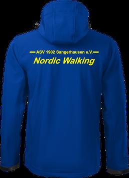 Softshelljacke m. Kapuze, Nordic Walking, royal blau