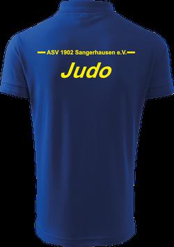 Pique Poloshirt Kids, Judo, royal blau