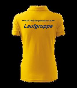 Pique Poloshirt Damen, Laufgruppe, gelb