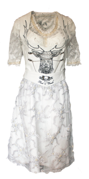 New!!! Lederdirndl White Deer