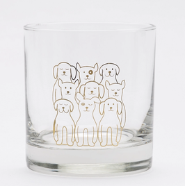 Dog Rocks Glass