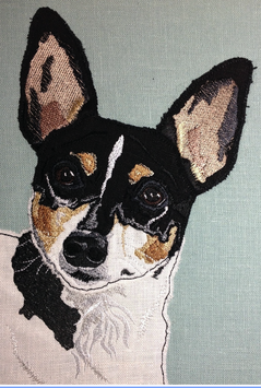 Toy Fox Terrier Pillow