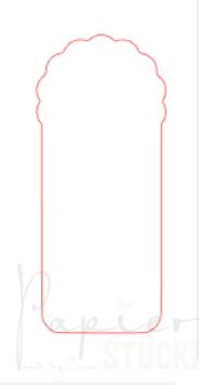 BigZ/ Stanze für Bigshot & Co *Wellenanhänger*