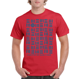"""""""MINISTRY OF GOOD VIBES"""" T-Shirt / Men (Red)"""