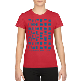 """""""MINISTRY OF GOOD VIBES"""" T-Shirt / Women (Red)"""