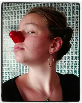 CYRANOse - nez de clown en latex / clown red nose
