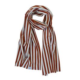Sjaal roest met witte streep